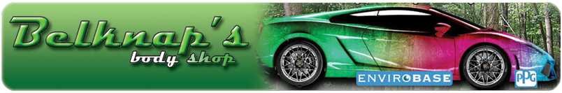 Belknaps body shop painting every car green for Best auto body paint shop
